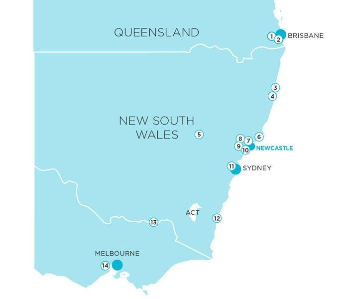 Ingenia Lifestyle Communities Map